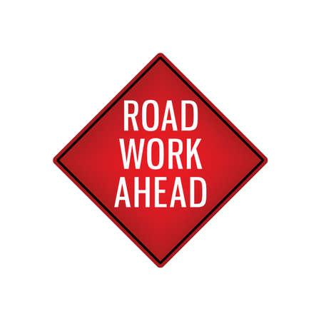 road work ahead signboard Illustration