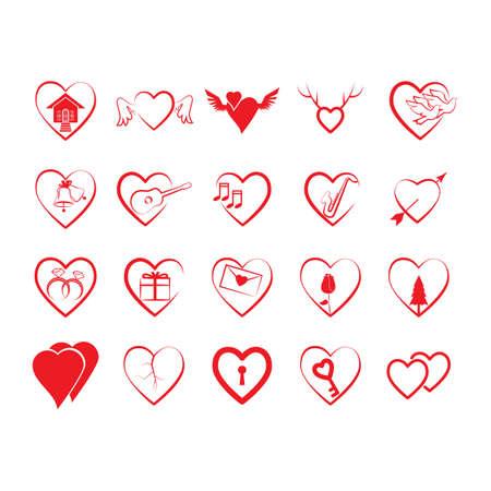 Colección del día de San Valentín Foto de archivo - 81538782