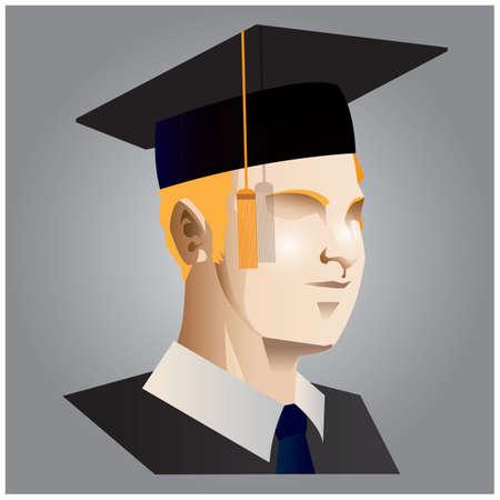 Uomo con cappello di graduazione Archivio Fotografico - 81536232
