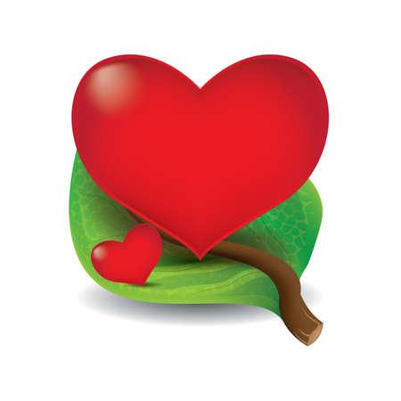 leaf with hearts Zdjęcie Seryjne - 106673173