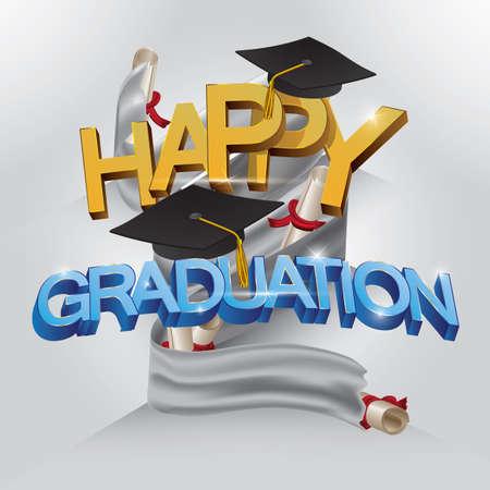 Happy graduation Illustration