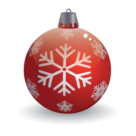 ボールでクリスマス雪の結晶  イラスト・ベクター素材