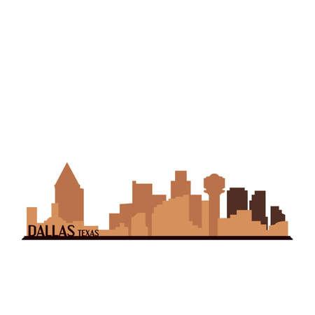 Dallas texas Ilustrace