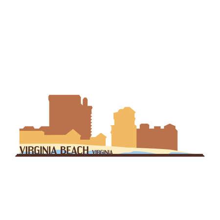 バージニア州バージニアビーチ  イラスト・ベクター素材