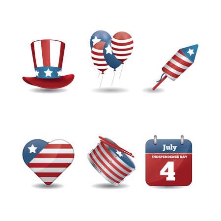 collection of usa icons Ilustração