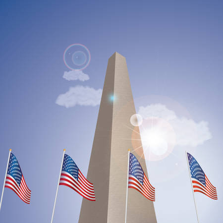 the washington monument Illustration