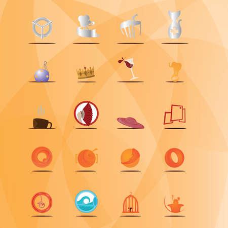 Set van verschillende pictogrammen Stock Illustratie