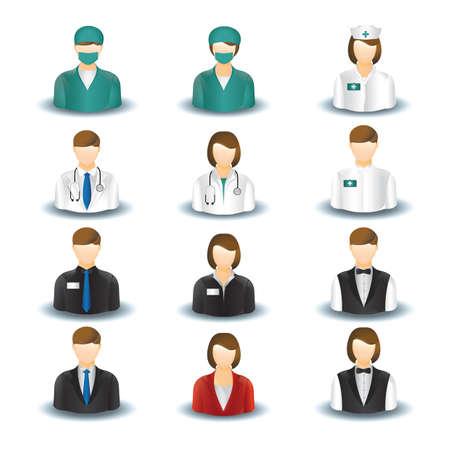 Sammlung von Menschen und Berufen