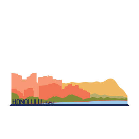Honolulu hawaii Illustration