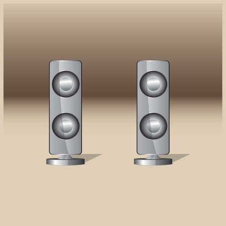 Stereo speakers 向量圖像
