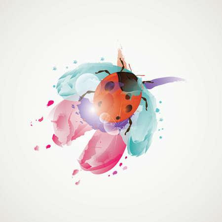 abstrakter Marienkäfer