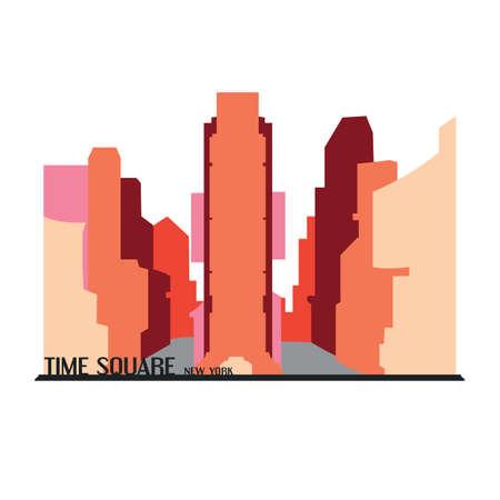 Time square new york Ilustrace
