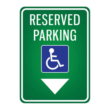 parking reserved for handicap signboard Reklamní fotografie - 106673258