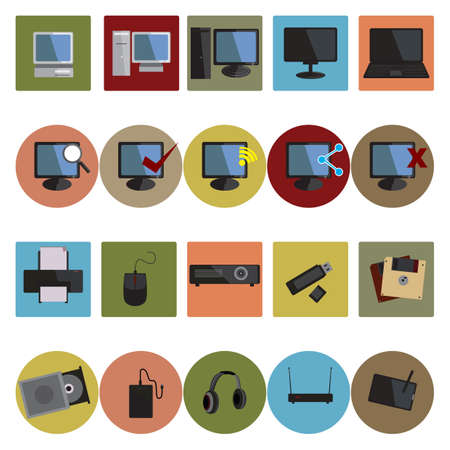 collection of computer devices Illustration