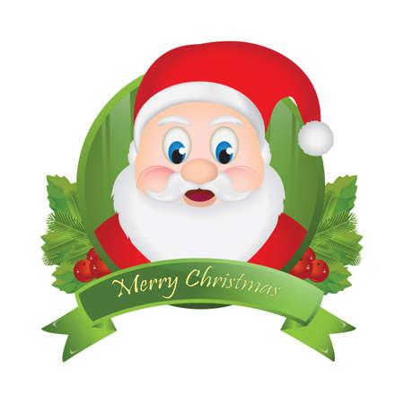 merry christmas greeting card Illustration