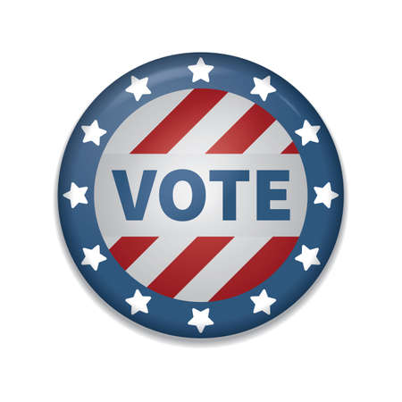 usa vote badge 일러스트