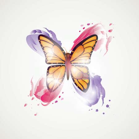 抽象的な蝶  イラスト・ベクター素材