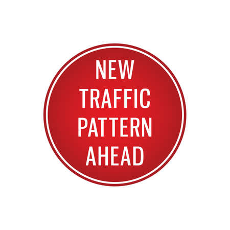 new traffic pattern ahead signboard Banque d'images - 106673271