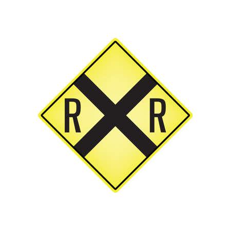 letrero de cruce de ferrocarril