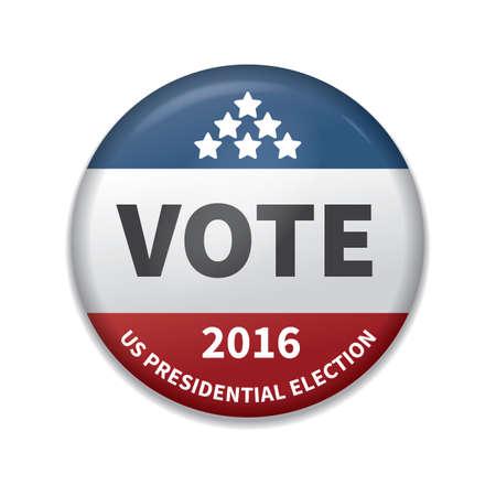 usa vote badge Stock Illustratie