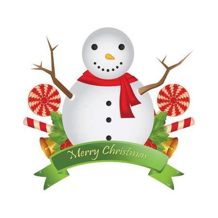 merry christmas greeting card Ilustração