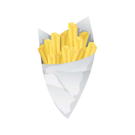 french fries in paper cones Stock fotó - 106673278