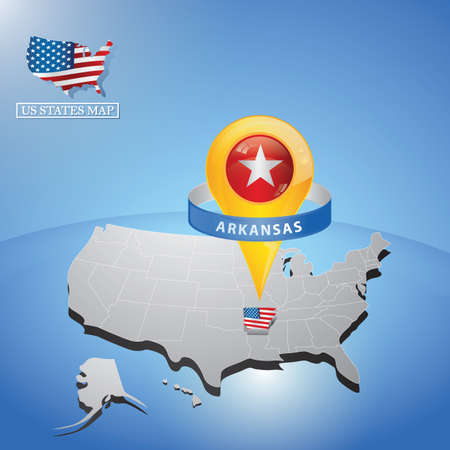 arkansas state on map of usa