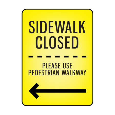 sidewalk closed signboard