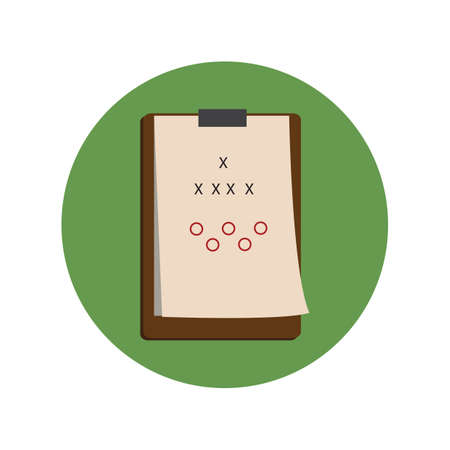 clipboard with game strategy 向量圖像