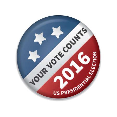 your vote counts badge Vektorgrafik