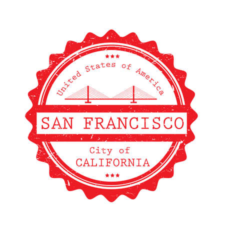 A san francisco label illustration. Ilustrace
