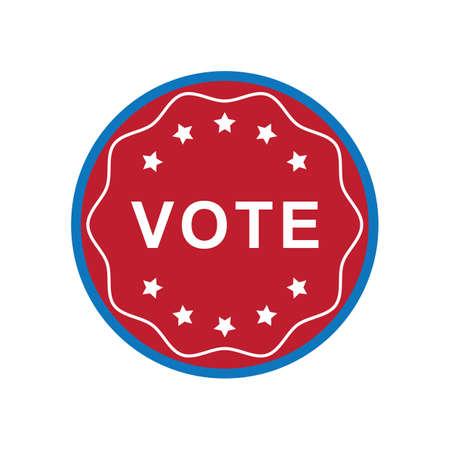 미국 투표 레이블 그림. 스톡 콘텐츠 - 81486360