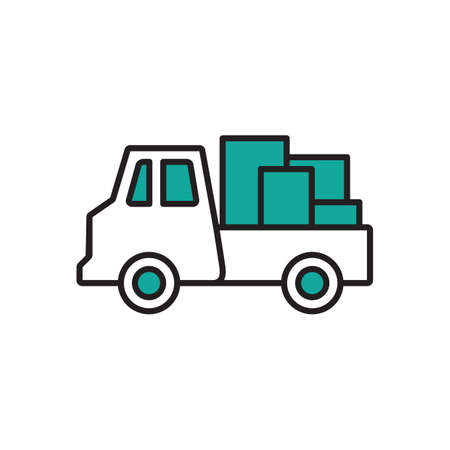 Camion de livraison avec des marchandises Banque d'images - 81535958