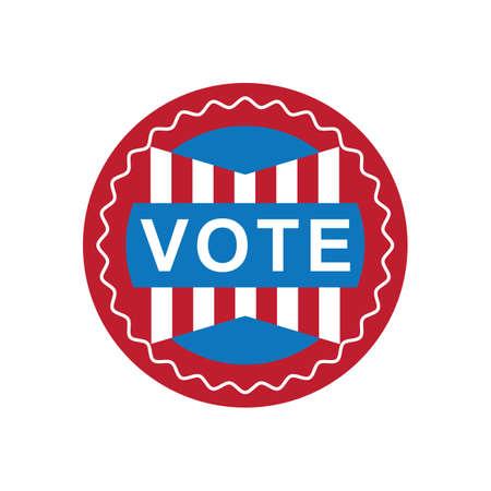 미국 투표 레이블 그림. 스톡 콘텐츠 - 81486331