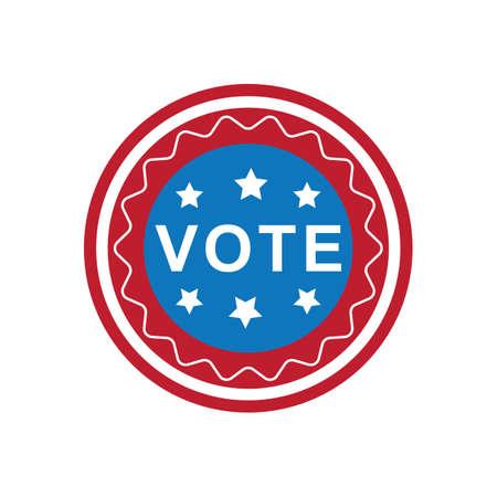 미국 투표 레이블 그림. 스톡 콘텐츠 - 81486362