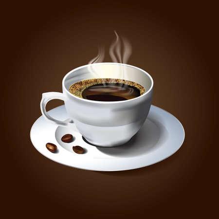 ホット コーヒーのカップ