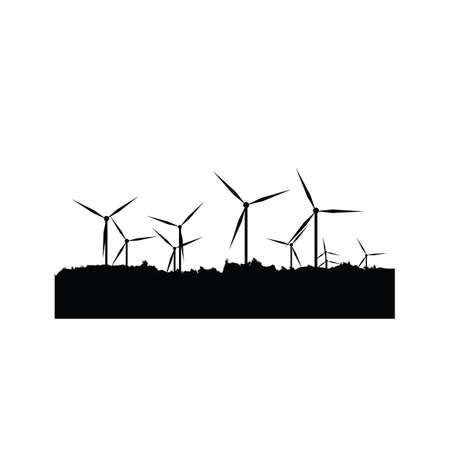 silhouette of windmills Stok Fotoğraf - 81538805