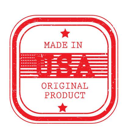 made in usa label Çizim