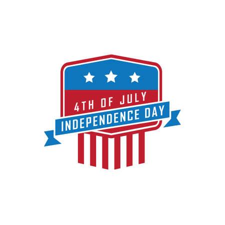 USA independence day banner illustration. Ilustrace
