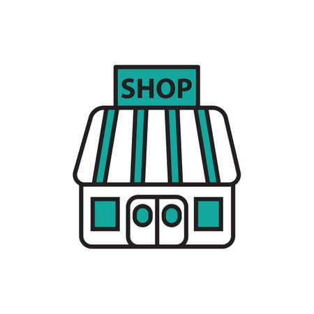 Icône de magasin Banque d'images - 81535990