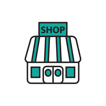 Winkel pictogram Stock Illustratie