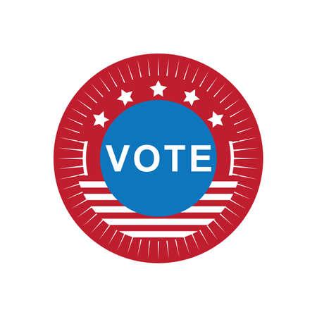 미국 투표 레이블 그림. 스톡 콘텐츠 - 81486402