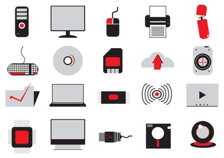 set of electrical gadgets Illustration