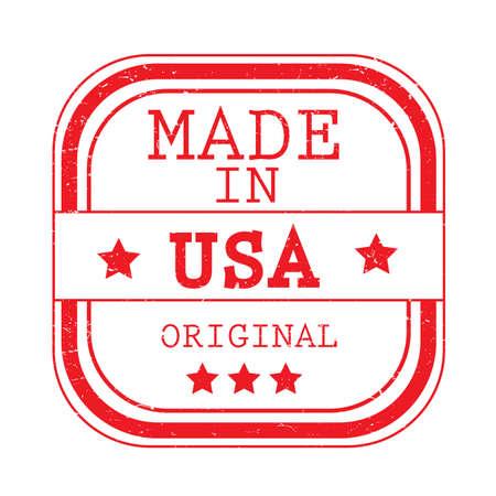 アメリカ製のラベルイラスト。  イラスト・ベクター素材