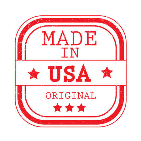 A made in USA label illustration. Stok Fotoğraf - 81486406