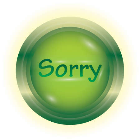 sorry button Ilustrace