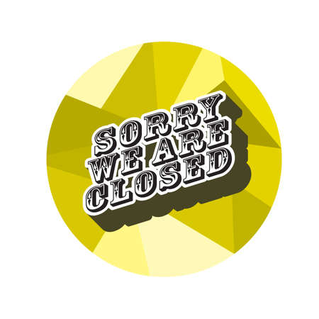 sorry we are closed 스톡 콘텐츠 - 106673366