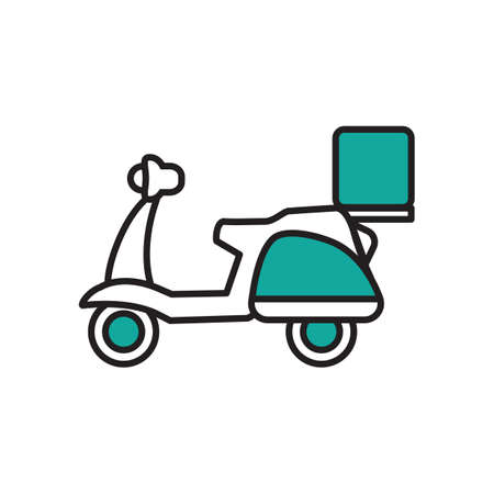 Delivery scooter Illustration
