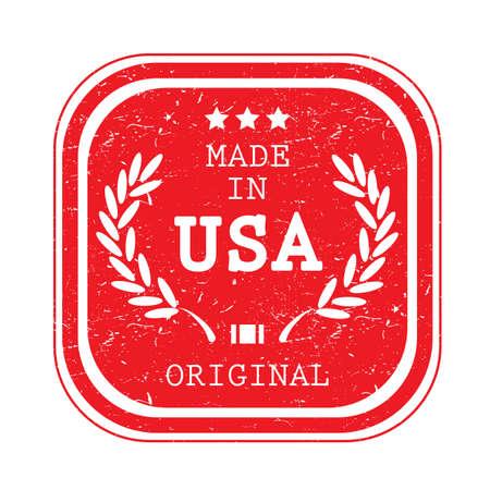米国のラベルのイラストで作られた A。