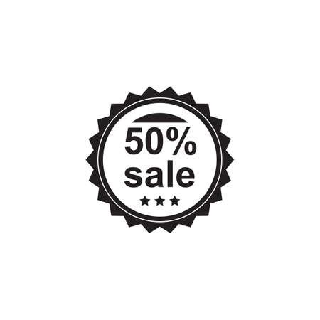 50 percent sale badge Иллюстрация